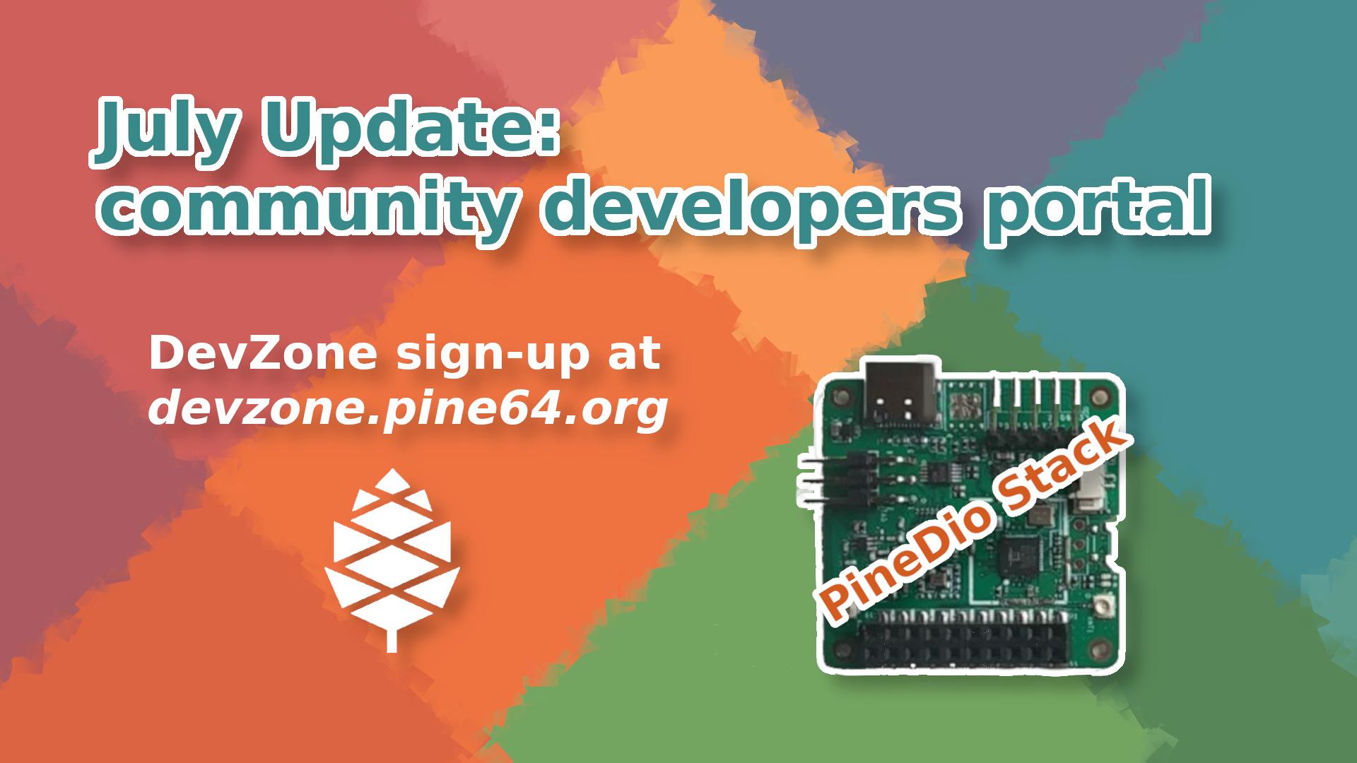PINE64 July community uipdate header